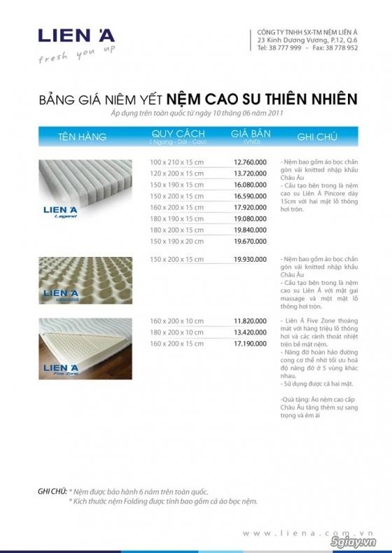 Nệm P.E, Nệm Bông ép Korea, Nệm cao su thiên nhiên phân phối bỏ sỉ - 10
