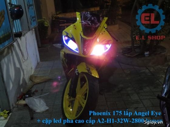 E.L SHOP Đèn led siêu sáng xe mô tô: XHP50, XHP70 i7, Cree, Philips Lumiled,Gương cầu LED xe gắn máy - 23