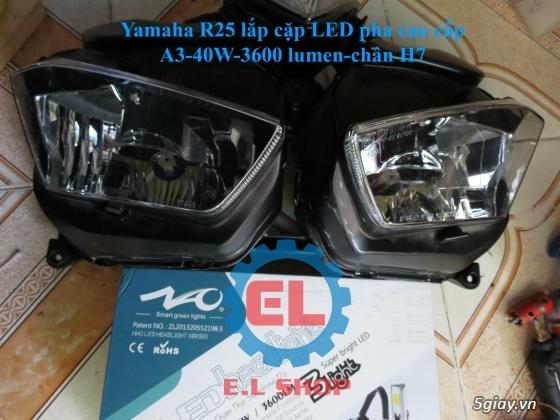 E.L SHOP Đèn led siêu sáng xe mô tô: XHP50, XHP70 i7, Cree, Philips Lumiled,Gương cầu LED xe gắn máy - 16