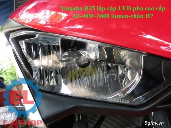 E.L SHOP Đèn led siêu sáng xe mô tô: XHP50, XHP70 i7, Cree, Philips Lumiled,Gương cầu LED xe gắn máy - 17