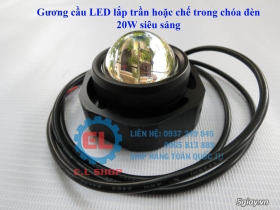 E.L SHOP Đèn led siêu sáng xe mô tô: XHP50, XHP70 i7, Cree, Philips Lumiled,Gương cầu LED xe gắn máy - 42