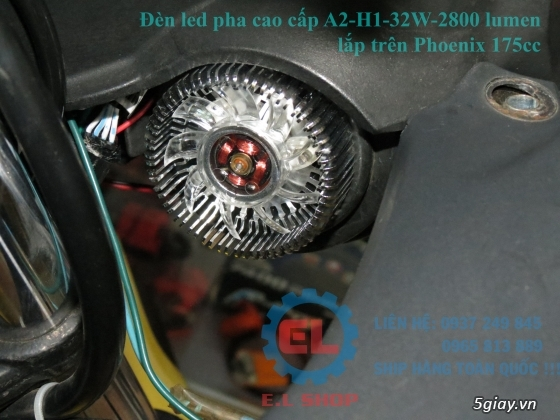 E.L SHOP Đèn led siêu sáng xe mô tô: XHP50, XHP70 i7, Cree, Philips Lumiled,Gương cầu LED xe gắn máy - 24