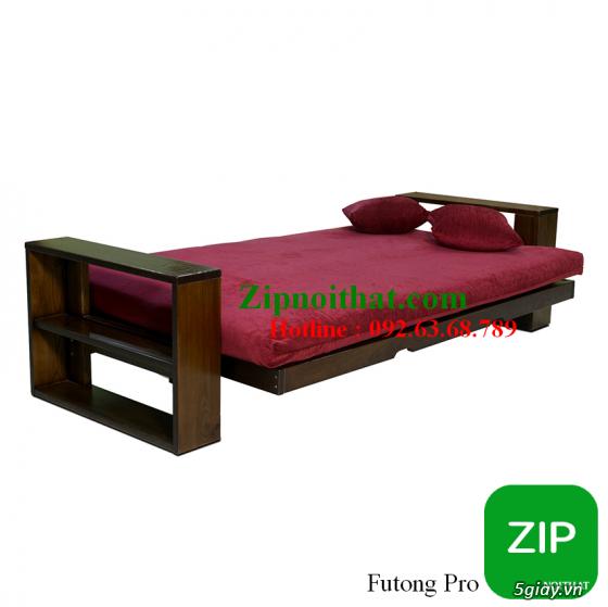 Giường Futon   ZIP nội thất   Giường Gấp SOFA   100% Gỗ Sồi giá rẻ - 5