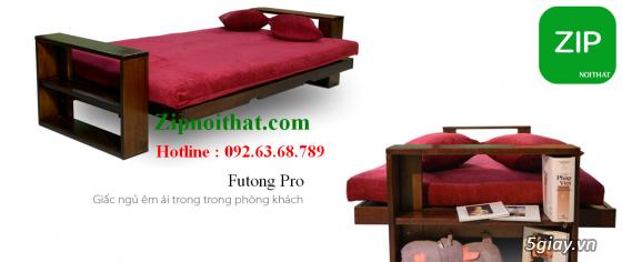 Giường Futon   ZIP nội thất   Giường Gấp SOFA   100% Gỗ Sồi giá rẻ - 9