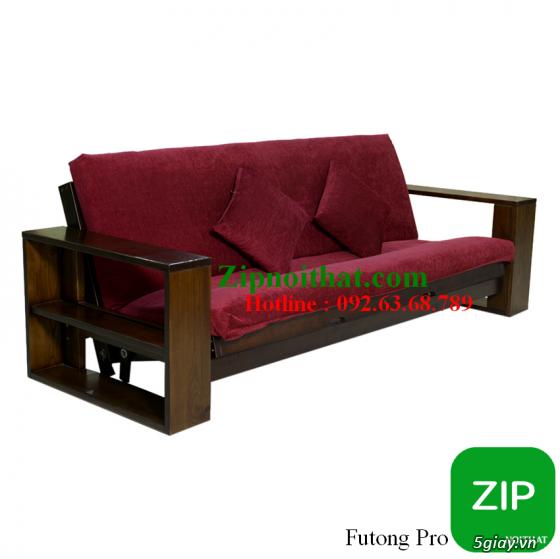 Giường Futon   ZIP nội thất   Giường Gấp SOFA   100% Gỗ Sồi giá rẻ - 4