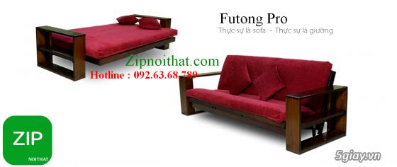 Giường Futon   ZIP nội thất   Giường Gấp SOFA   100% Gỗ Sồi giá rẻ - 8