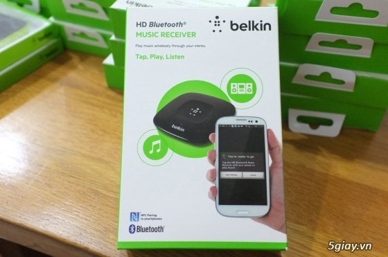 Nghe nhạc bluetooth Belkin chính hãng- Belkin Bluetooth Music Receiver