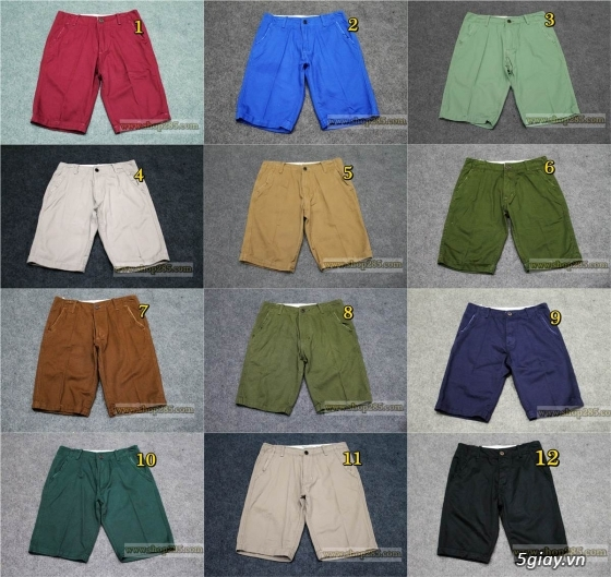 Quần kaki ZARA SlimFit,quần jean Levi's 511 SlimFit,quần short SuperDry,short jean CK - 34