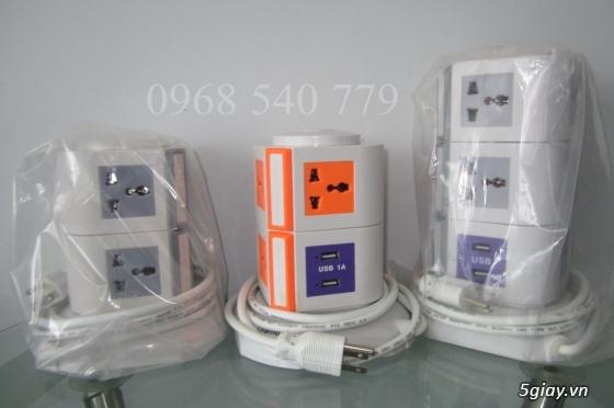 Ổ cắm điện 2-3 tầng từ 8-12 lỗ + 2 USB 1A đa năng tiện dụng giá tốt