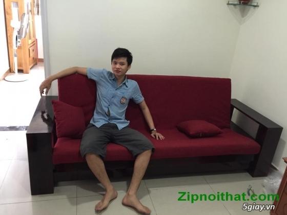Giường Futon   ZIP nội thất   Giường Gấp SOFA   100% Gỗ Sồi giá rẻ - 1