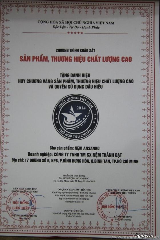 Cty Nệm Thành Đạt (ansanko)nệm Cao Su Ép Gấp 3 Xin Kính Chào Quý Khách Hàng Bảng Báo Giá 2015