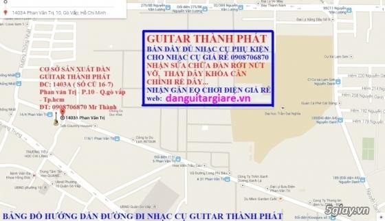 Đàn guitar gỗ hồng đào, còng cườm, điệp, sồi pháp giá rẻ gò vấp hcm - 14