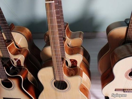 Đàn guitar gỗ hồng đào, còng cườm, điệp, sồi pháp giá rẻ gò vấp hcm - 8