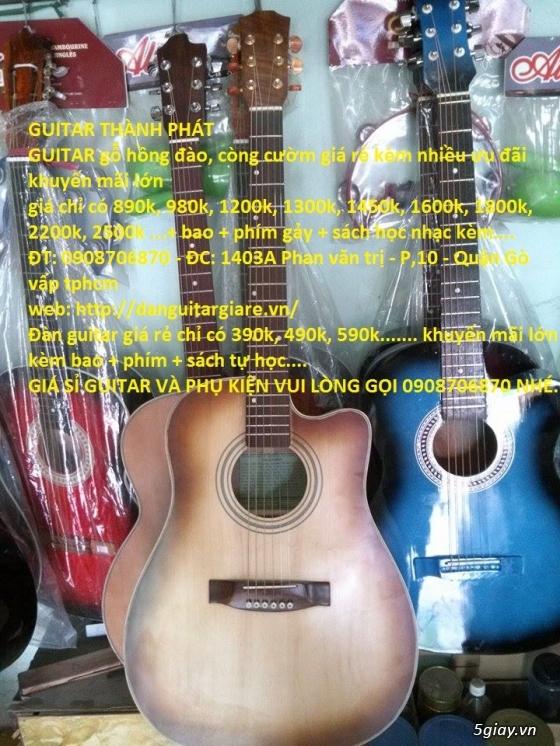 Đàn guitar giá rẻ gò vấp hcm 390k,490k, 590k,690k...980k,1200k GUITAR THÀNH PHÁT - 1