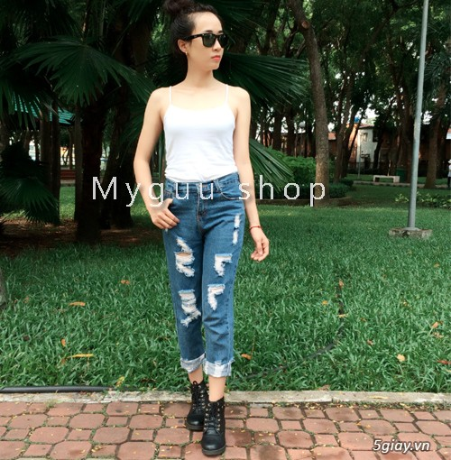 Quần baggy nữ đẹp, giá rẻ|quần jeans baggy|quần baggy kaki|quần baggy vải - 3