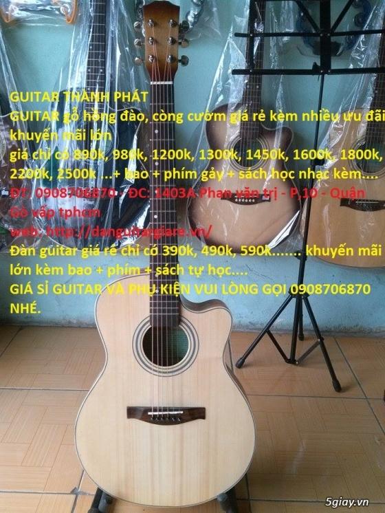 Đàn guitar giá rẻ gò vấp hcm 390k,490k, 590k,690k...980k,1200k GUITAR THÀNH PHÁT - 2