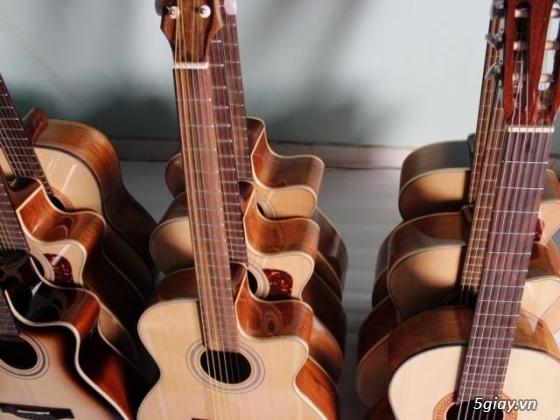 Đàn guitar gỗ hồng đào, còng cườm, điệp, sồi pháp giá rẻ gò vấp hcm - 9