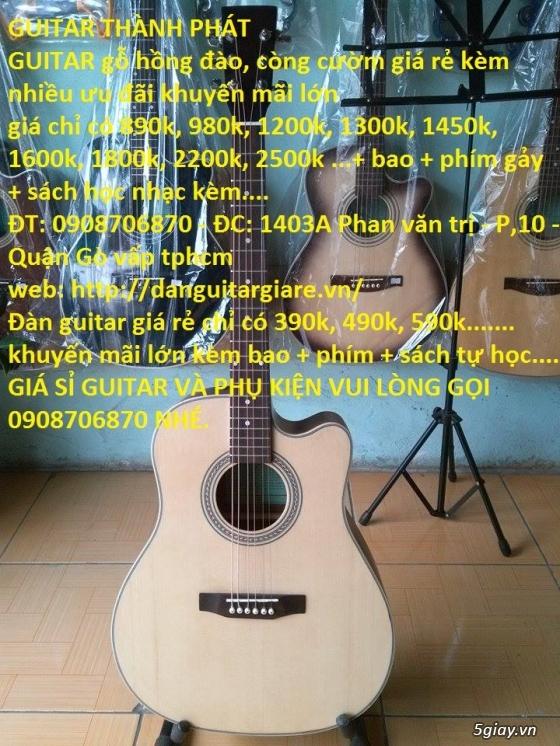 Đàn guitar giá rẻ gò vấp hcm 390k,490k, 590k,690k...980k,1200k GUITAR THÀNH PHÁT - 3