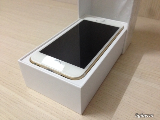 IPHONE 6 PLUS GOLD 16G hàng Bạch Long mới Active 2ngay nguyên Seal máy & phụ kiện.. - 1