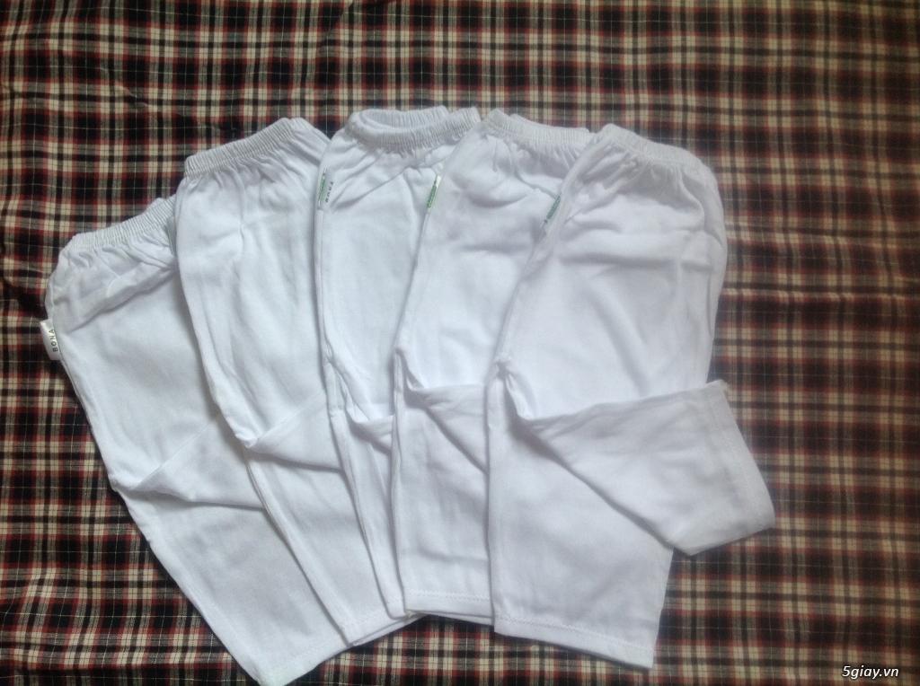 Áo quần cotton trẻ sơ sinh 12k, nón khăn bao tay chân, vớ giá rẻ new 100% hàng mới update - 9