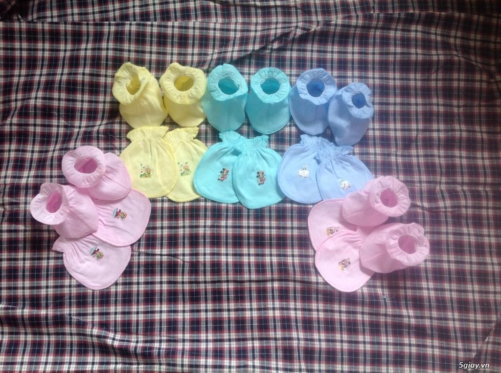 Áo quần cotton trẻ sơ sinh 12k, nón khăn bao tay chân, vớ giá rẻ new 100% hàng mới update - 11