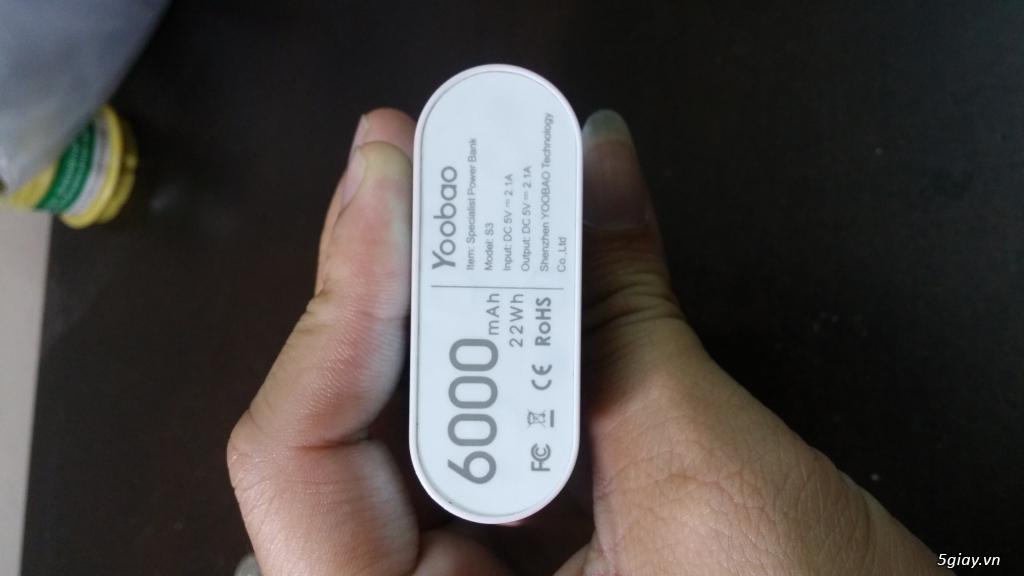 Pin dự phòng Yoobao 6000 YB S3,chính hãng, bảo hành 6T - 4