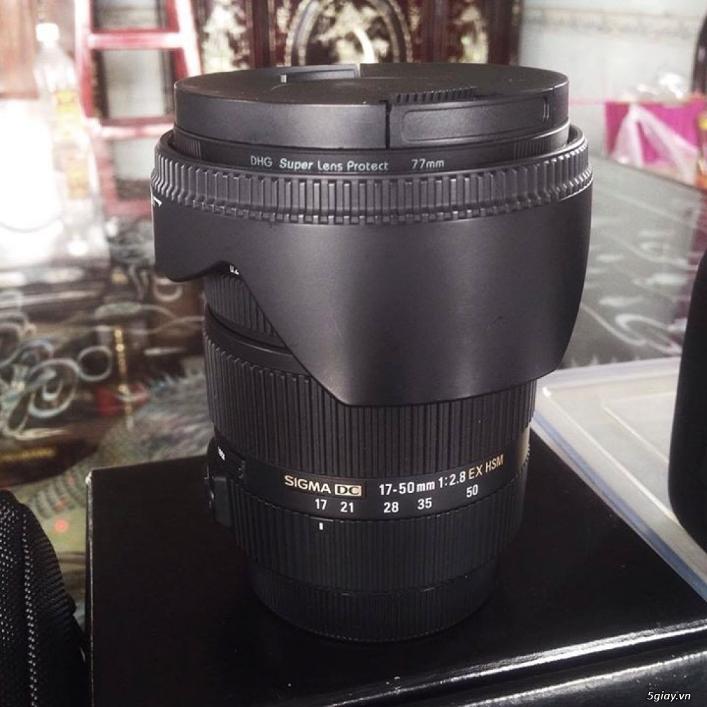 Cần bán lens SIGMA 17-50 1:2.8 EX HSM (mua tại Nhật) - 4