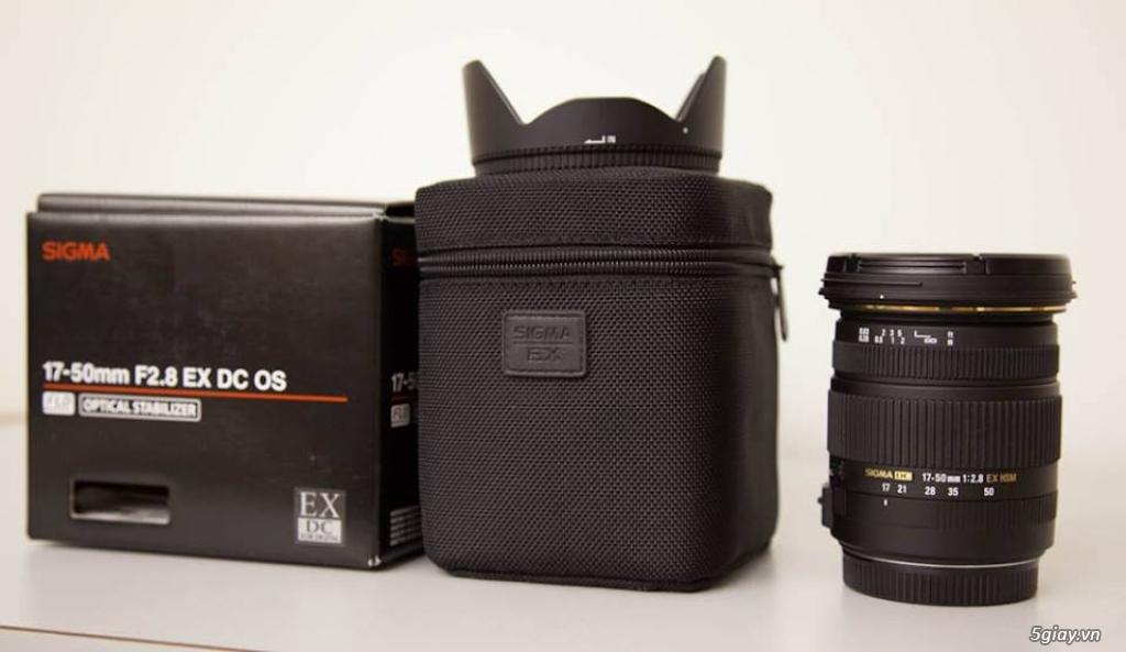 Cần bán lens SIGMA 17-50 1:2.8 EX HSM (mua tại Nhật) - 2