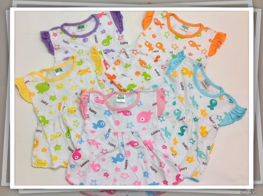 Áo quần cotton trẻ sơ sinh 12k, nón khăn bao tay chân, vớ giá rẻ new 100% hàng mới update - 8