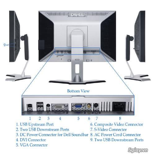 Màn hình LCD Dell 2007FP 20 inch UltraSharp Panel IPS giá cực tốt - 6