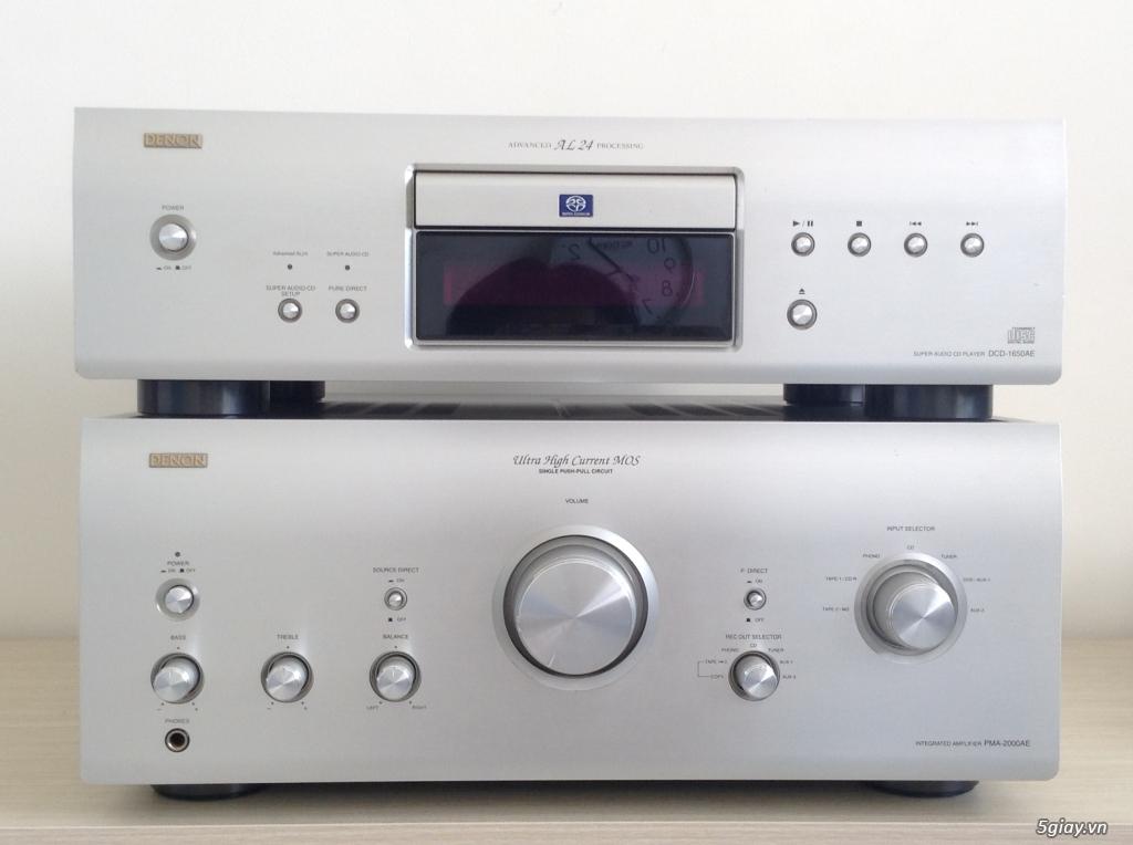 Ampli, CD, receiver, loa, subwoofer, center, surround các loại...