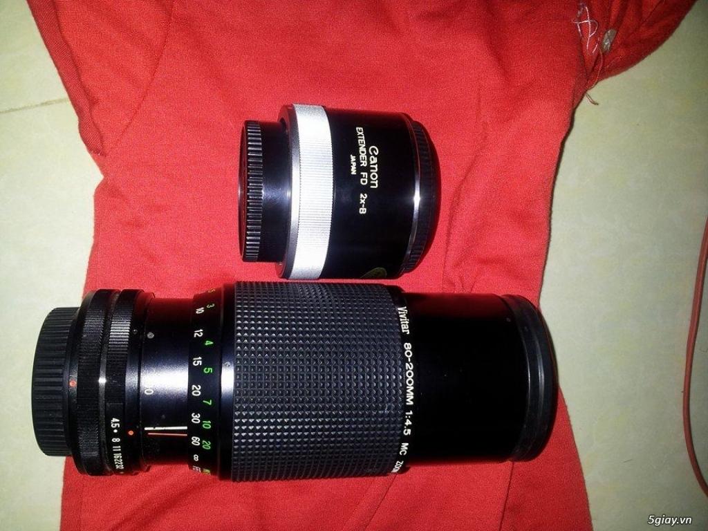 máy ảnh kỹ thuật số + máy film + lens + flash