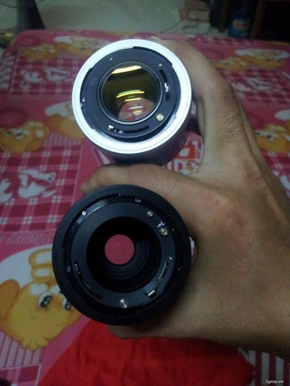 máy ảnh kỹ thuật số + máy film + lens + flash - 1