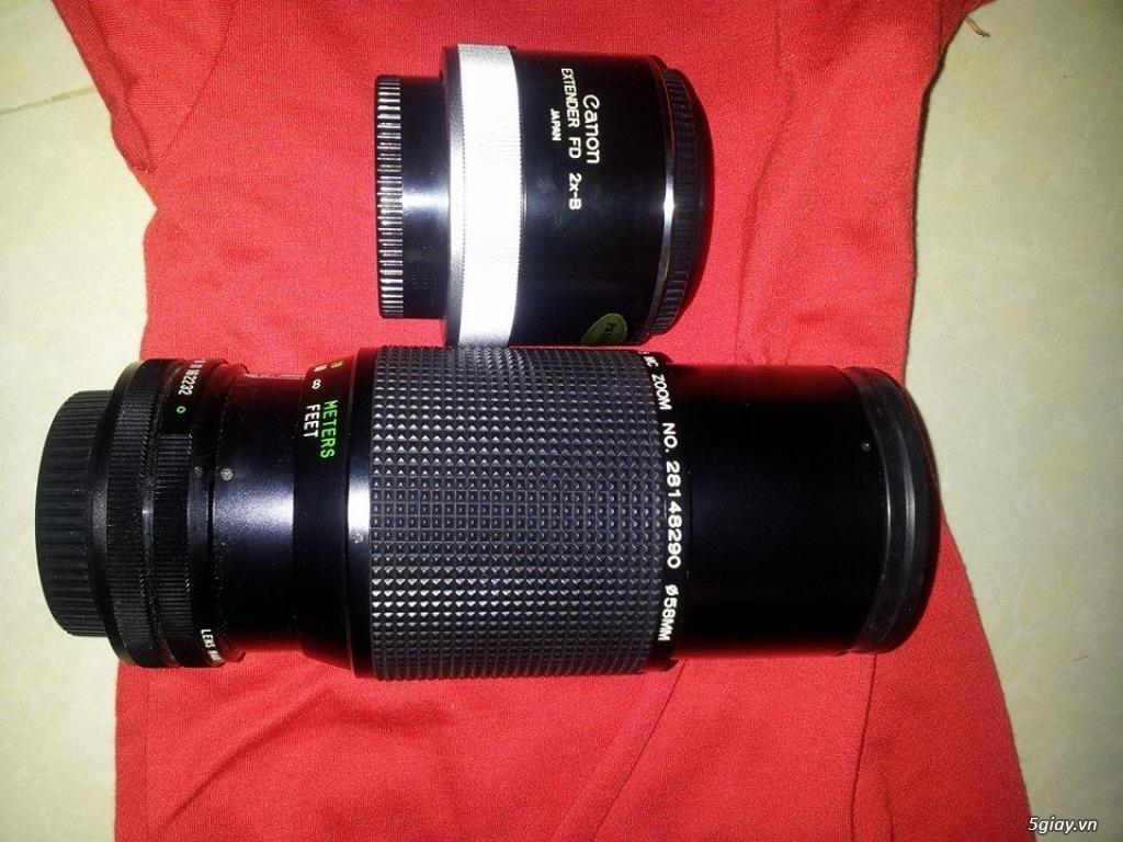 máy ảnh kỹ thuật số + máy film + lens + flash - 2