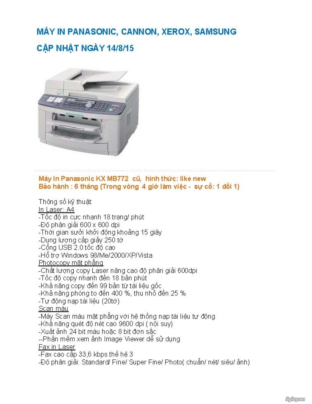 Sửa chữa Bộ Đàm,Máy Fax,Tổng Đài - 1