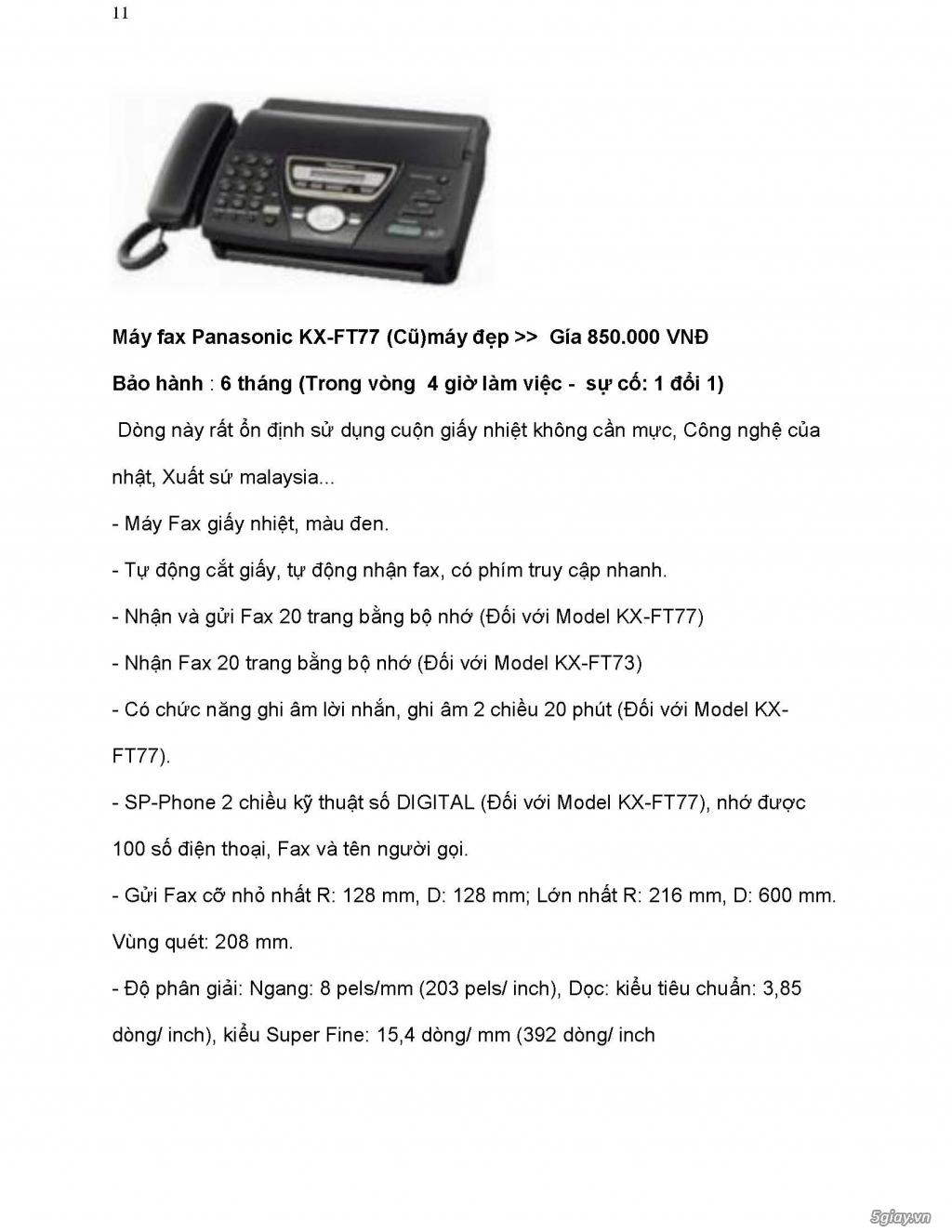 Sửa chữa Bộ Đàm,Máy Fax,Tổng Đài - 24