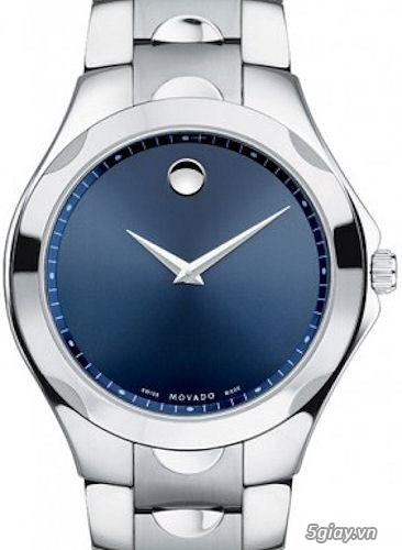 Movado Luno Stainless Steel Blue Dial Mens Watch 0606380 (Authentic)