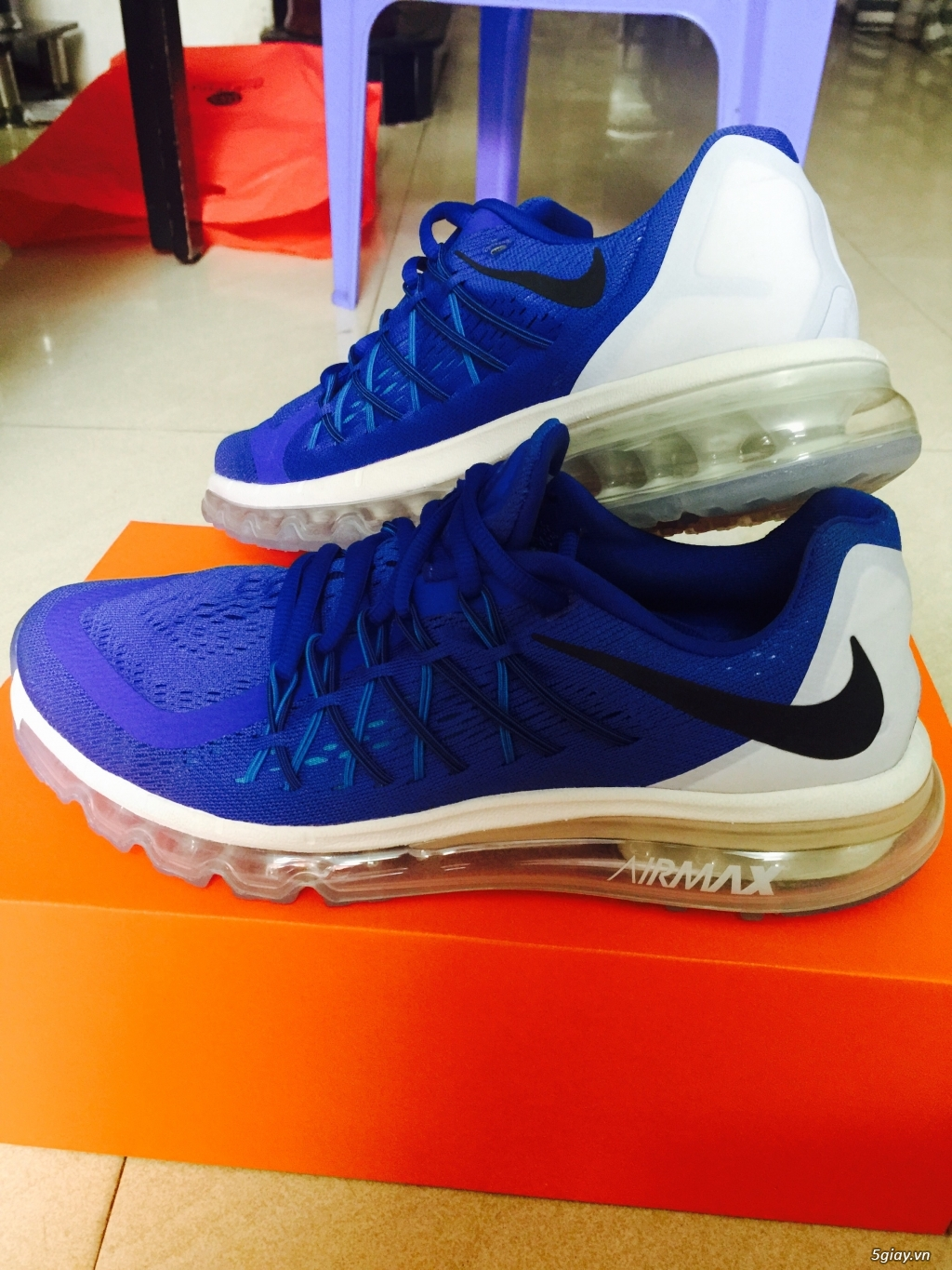 [NIKE] Airmax 2015 blue and white size 41 - 2