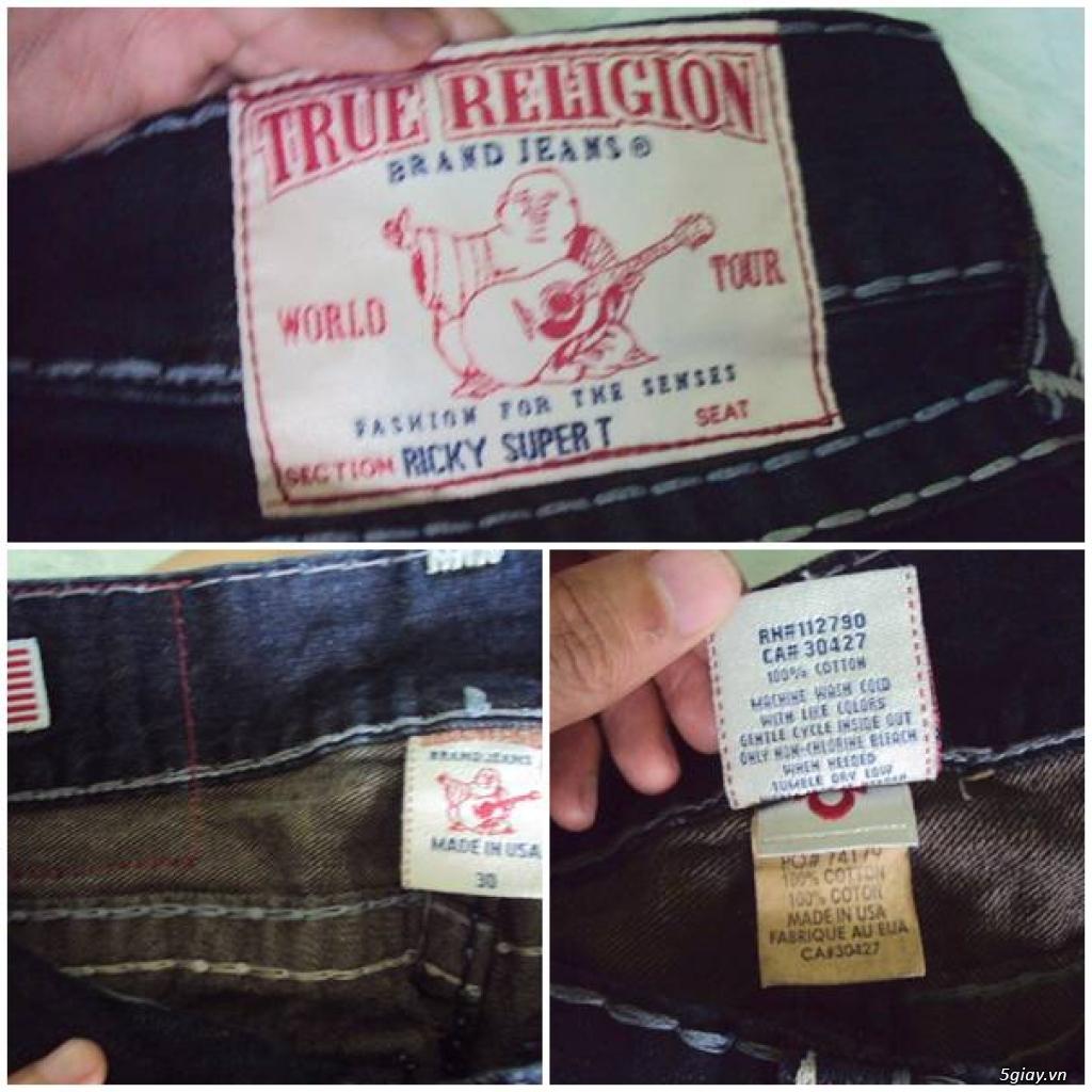 Bán quần si đa ( seconhand ) jean True Religion ( quần ông địa ) hàng chính hãng ! made in USA