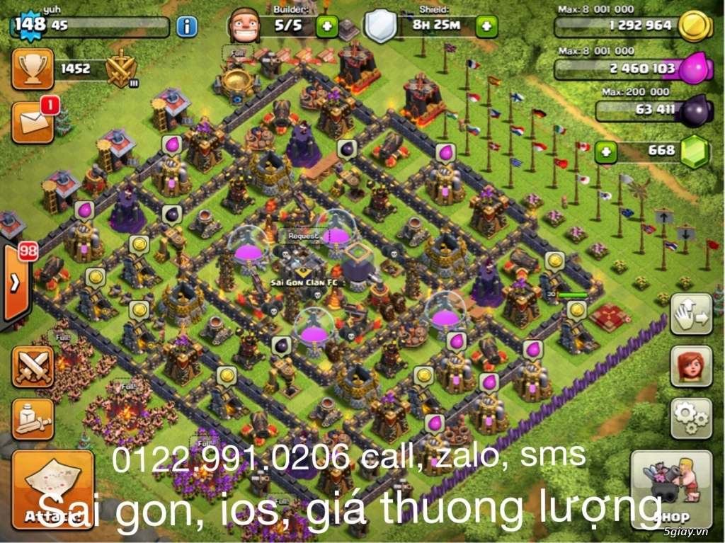 Cần  bán nick clash of clan - 6
