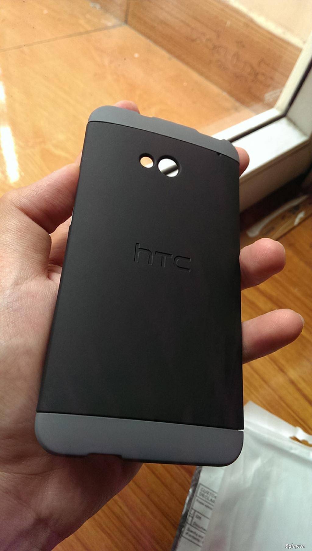 Bán case HTC ONE M7 double dip (3 mảnh) nhựa sơn mờ mới vừa bóc tem - 2