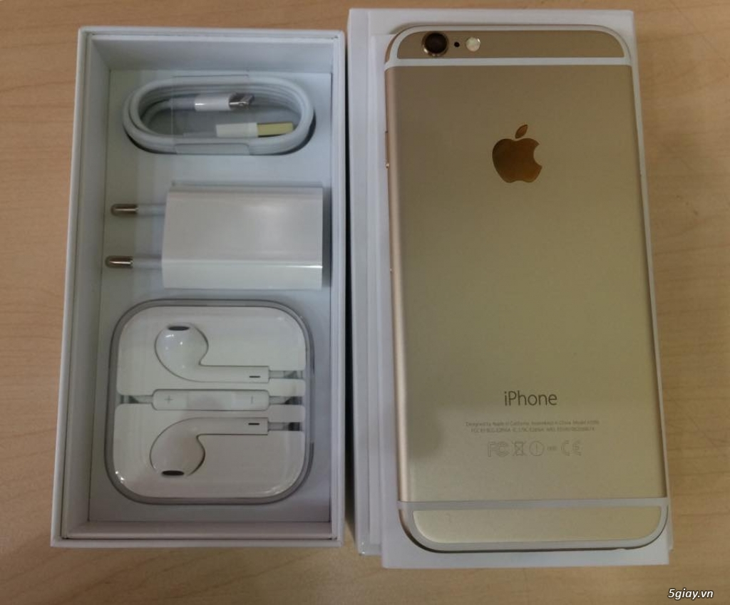 Iphone 6 gold lock likenew fullbox