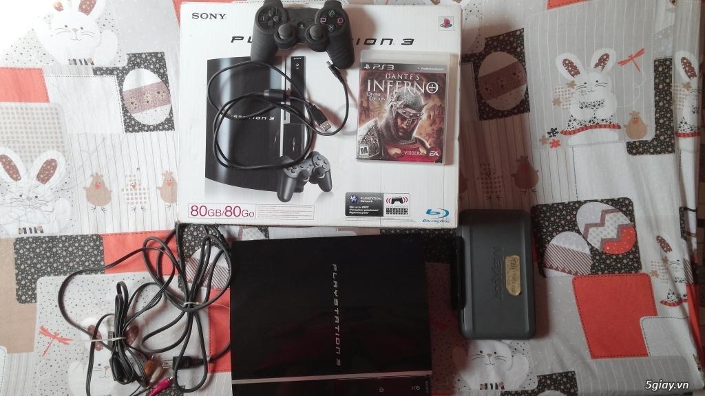 Thanh lý PS3 Fat 80gb, hack full, chưa bị lỗi gì,Full box - 2