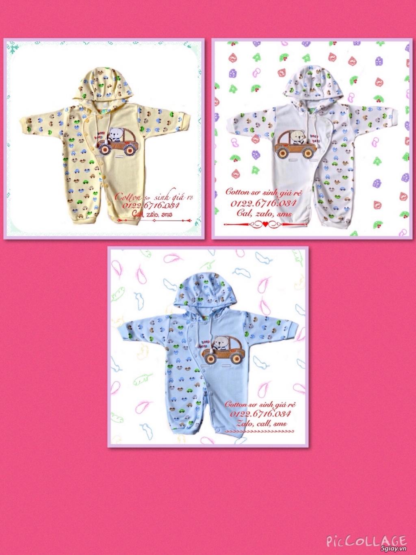 Áo quần cotton trẻ sơ sinh 12k, nón khăn bao tay chân, vớ giá rẻ new 100% hàng mới update - 25