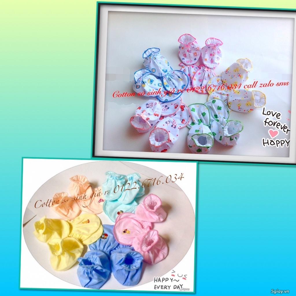 Áo quần cotton trẻ sơ sinh 12k, nón khăn bao tay chân, vớ giá rẻ new 100% hàng mới update - 13