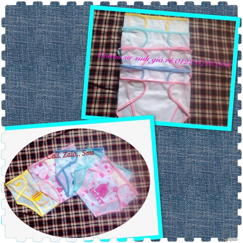 Áo quần cotton trẻ sơ sinh 12k, nón khăn bao tay chân, vớ giá rẻ new 100% hàng mới update - 6