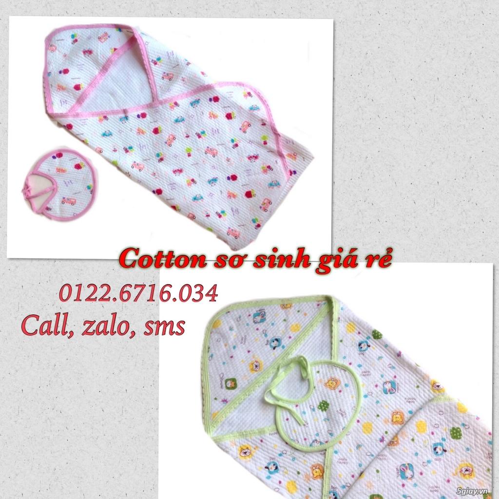 Áo quần cotton trẻ sơ sinh 12k, nón khăn bao tay chân, vớ giá rẻ new 100% hàng mới update - 12