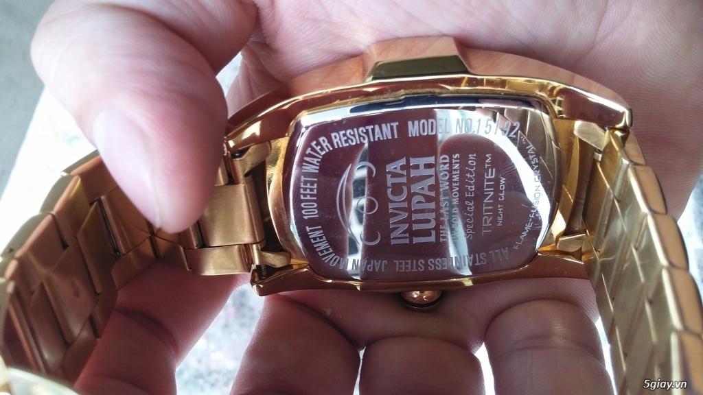 [ĐÔN GIÁ]Đồng hồ hiệu INVICTA gold sang chảnh cho Men.kết thúc lúc 23g59' ngày 23/10/2015 - 5