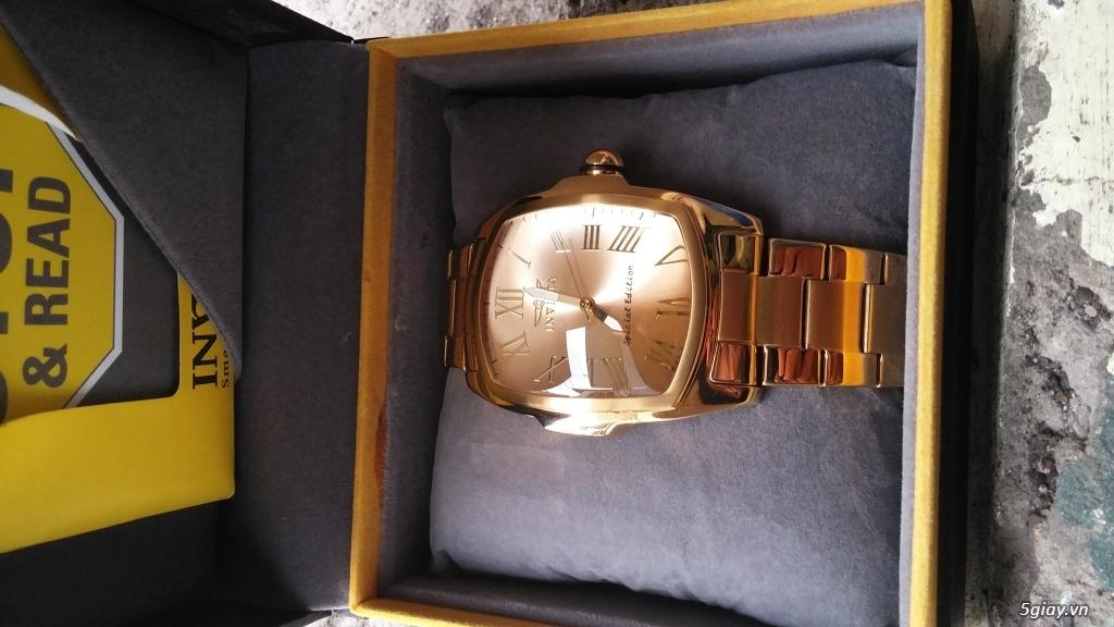 [ĐÔN GIÁ]Đồng hồ hiệu INVICTA gold sang chảnh cho Men.kết thúc lúc 23g59' ngày 23/10/2015 - 1