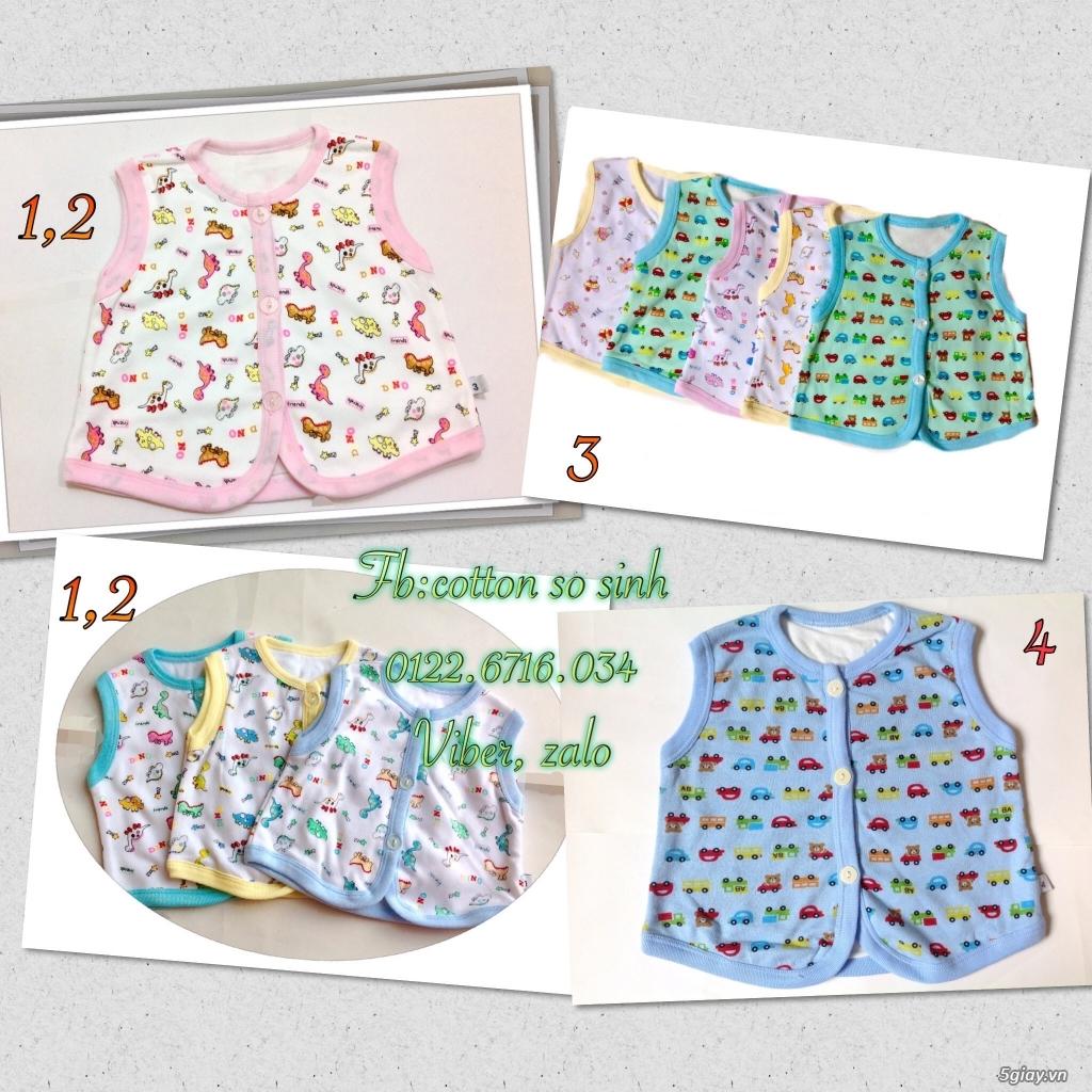 Áo quần cotton trẻ sơ sinh 12k, nón khăn bao tay chân, vớ giá rẻ new 100% hàng mới update - 7